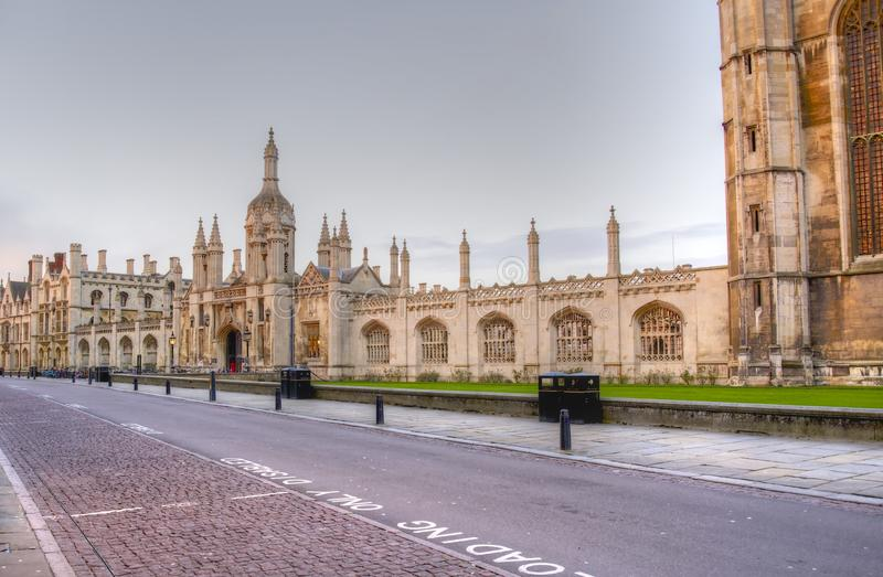 Cambridge universitet royaltyfria bilder