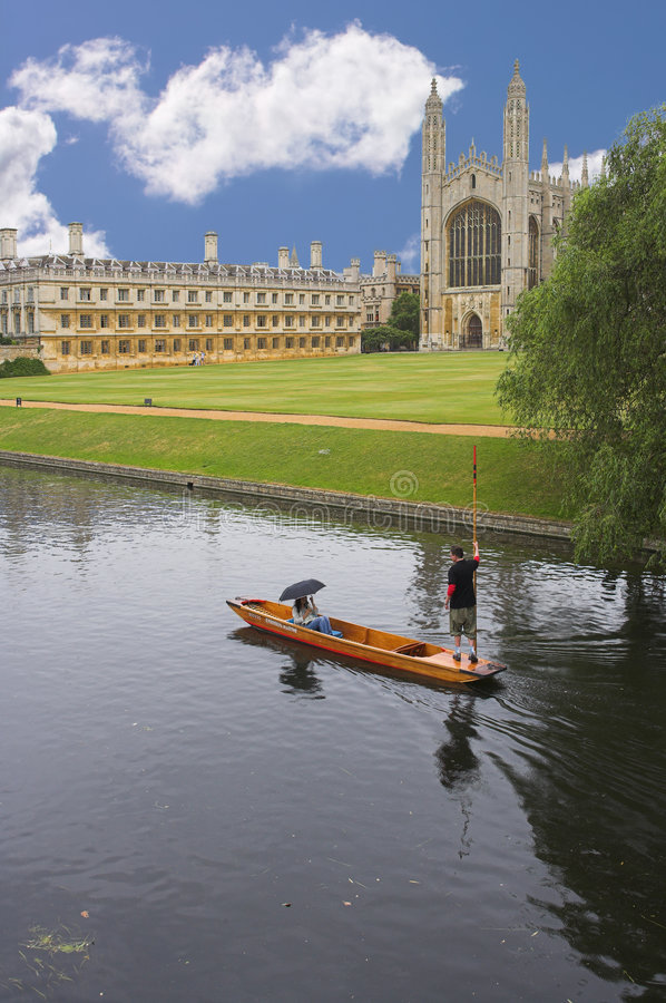 cambridge universitetar royaltyfria foton