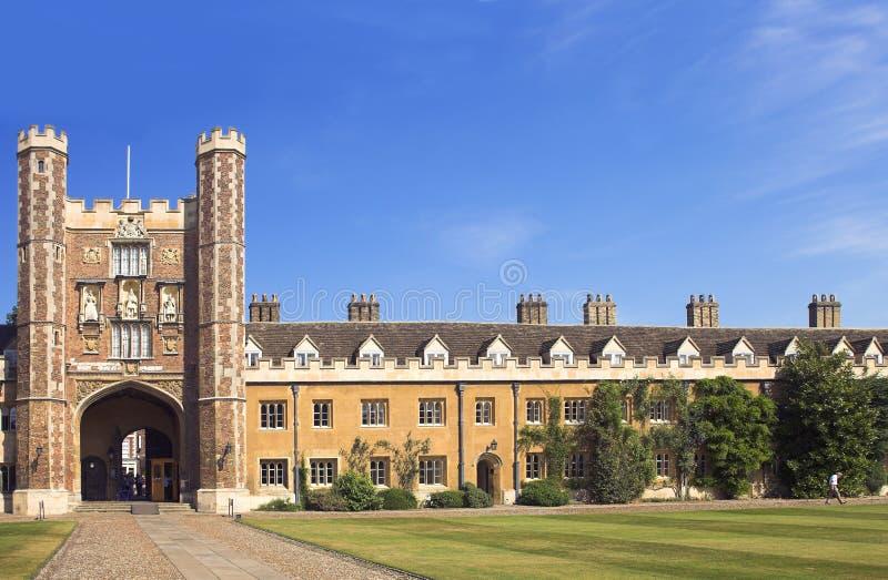 cambridge universitetar royaltyfri foto