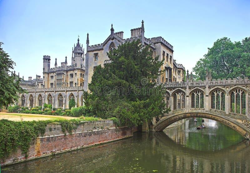 cambridge university zdjęcie royalty free
