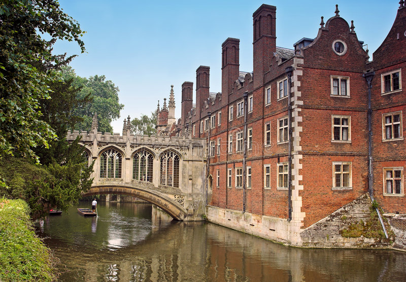 Cambridge University royalty free stock photo