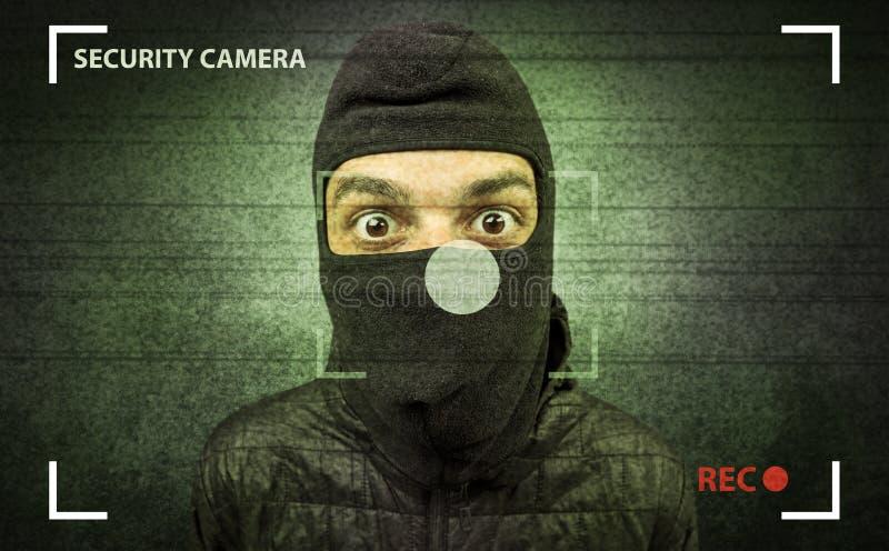 Cambrioleur dans l'action photographie stock libre de droits