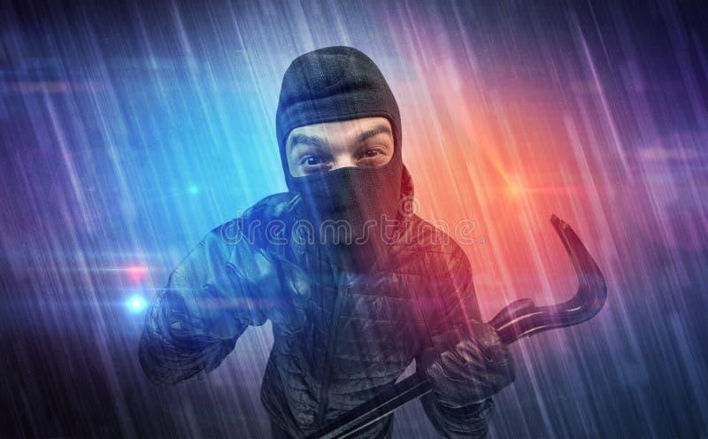 Cambrioleur dans l'action image libre de droits