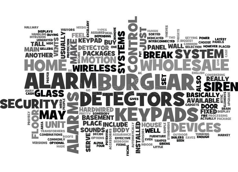 Cambrioleur en gros Alarm Word Cloud illustration stock