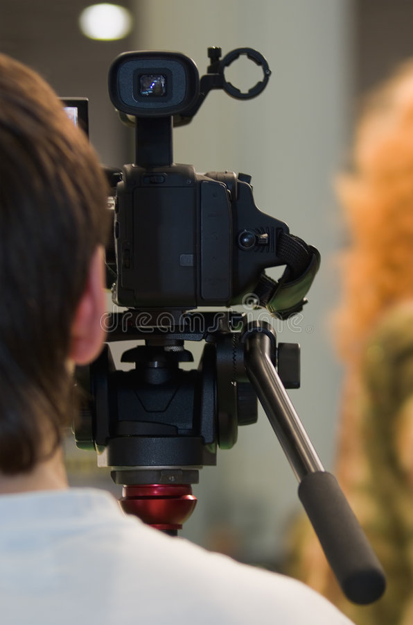 Download Camcoder stock image. Image of newscaster, event, newscast - 8956307