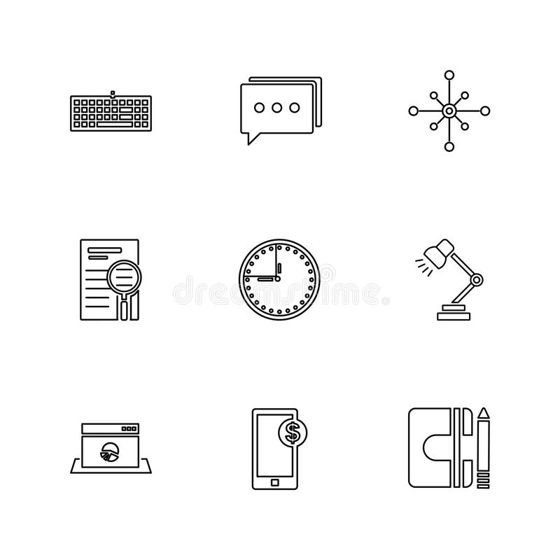 camcoder , camera , video , multimedia , computer , setting , eps icons set vector stock illustration