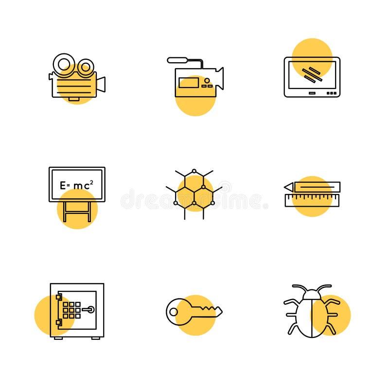 camcoder kamera, video, multimedia, dator, inställning, ep stock illustrationer