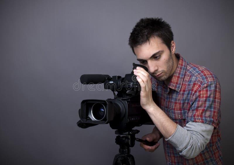 camcorder τηλεοπτικές νεολαίες ατόμων στοκ φωτογραφία με δικαίωμα ελεύθερης χρήσης