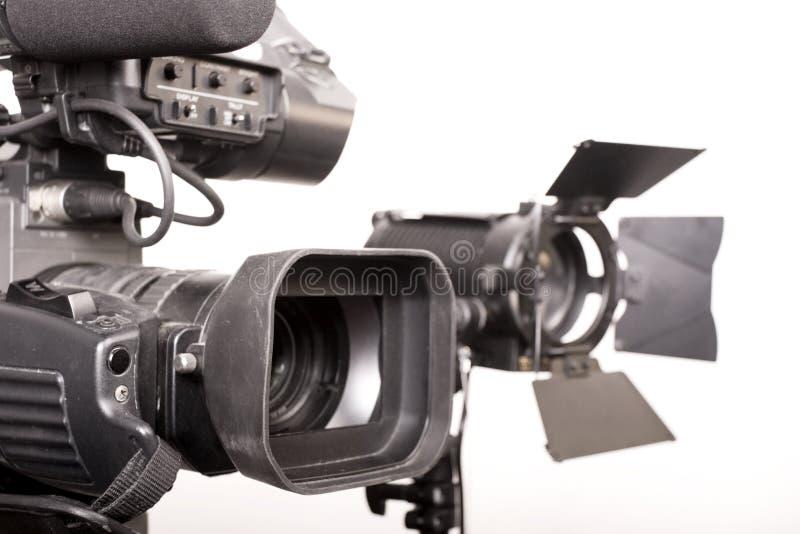 Camcorder en licht stock foto's