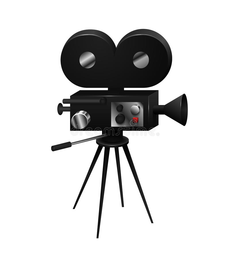 Camcorder vintage retro isolated in a realistic style royalty free illustration
