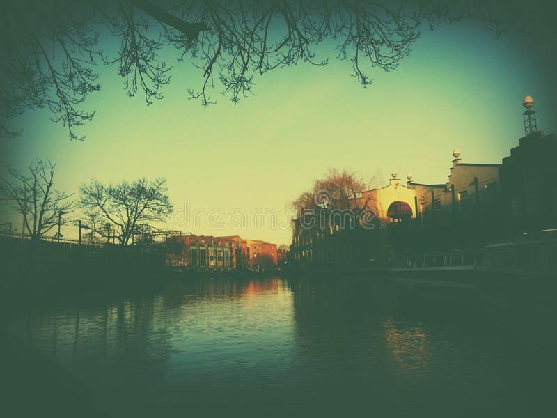 Camden Canal Bright foto de stock royalty free