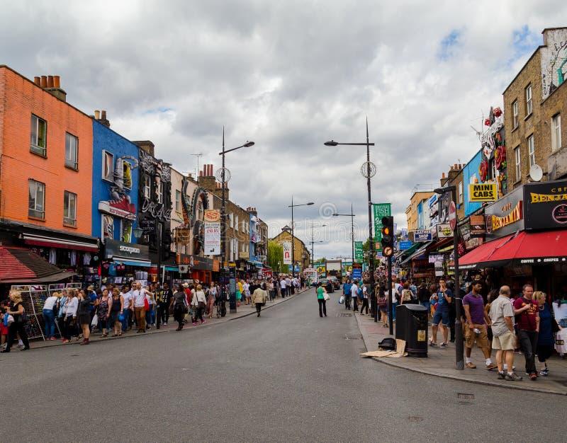Camden głowna ulica zdjęcia stock