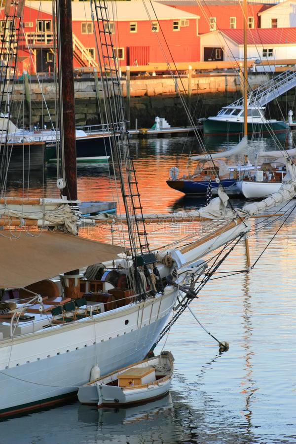 Download Camden Harbor stock image. Image of boom, wood, sailboat - 11169741