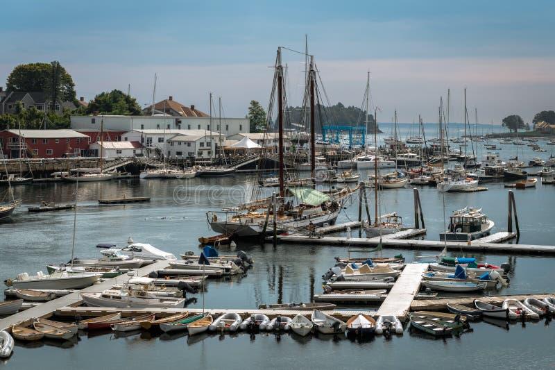 Camden Harbor Afternoon immagine stock libera da diritti