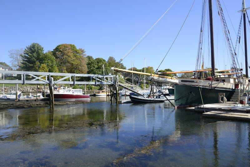 Camden Harbor in Maine stock photography