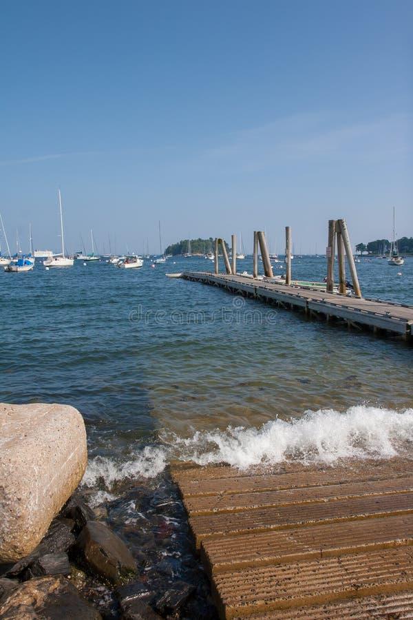 Camden Harbor Pier images stock