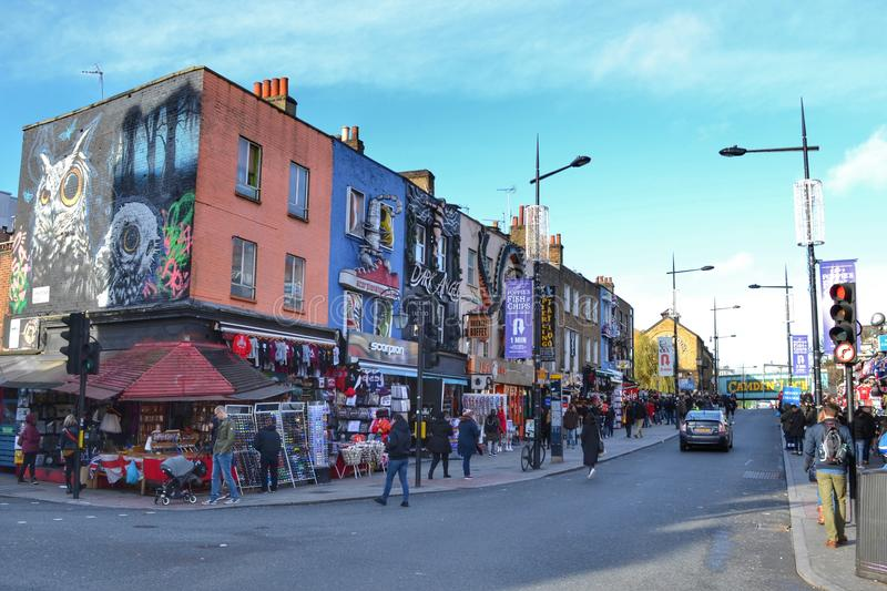 Camden High Street London images stock