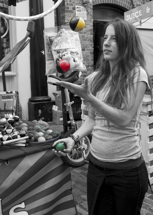 Camden juggler fotografia royalty free