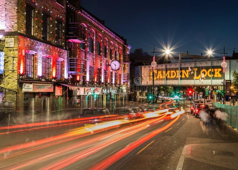 Camden kędziorek przy nocą obrazy royalty free