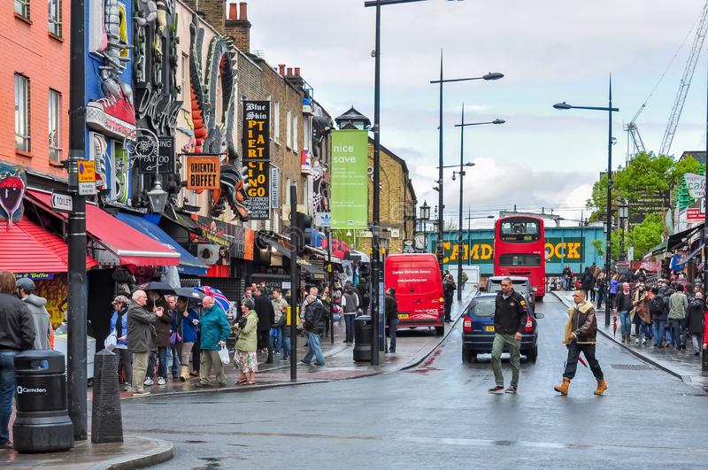 Camden Lock district in London, UK stock photography