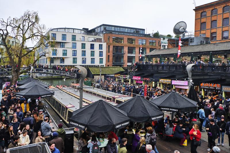 Camden Lock in London, UK stock images