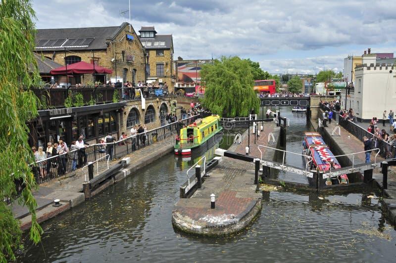 Camden Lock in London, United Kingdom royalty free stock photos