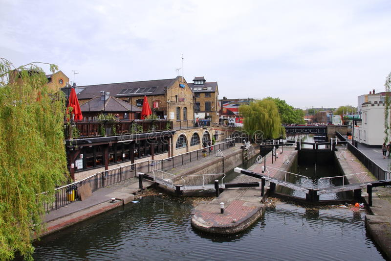 Camden Lock - Regent`s Canal - London - UK royalty free stock photography