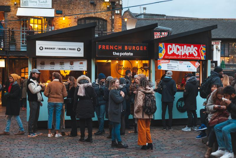 Camden Market, London stock photography