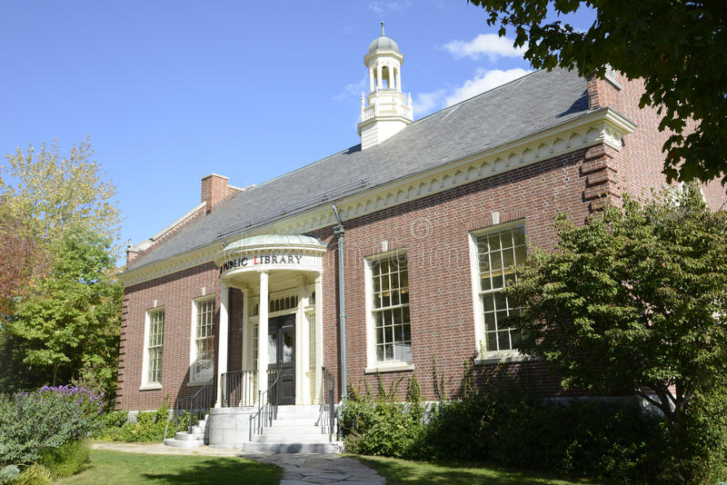 Camden Public Library in Maine stock photo