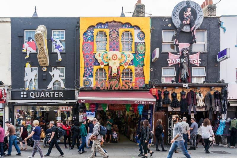 Camden rynek w Londyński UK zdjęcia royalty free