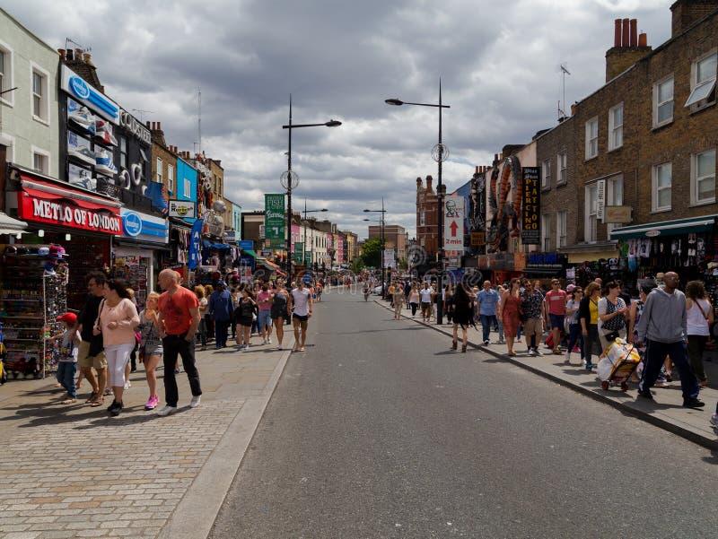 Camden storgatan royaltyfri fotografi