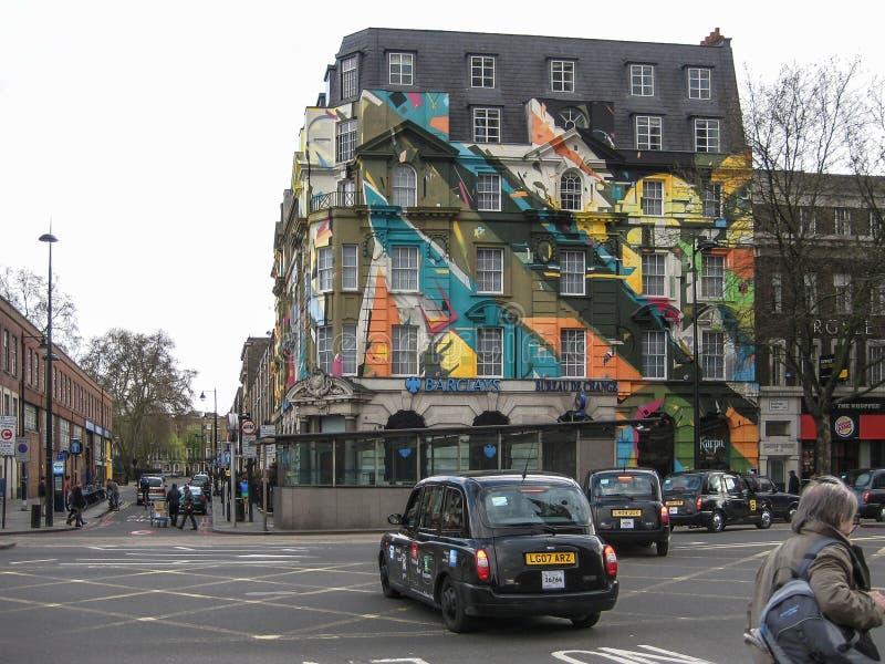 Camden Town con le costruzioni variopinte, a Londra immagine stock