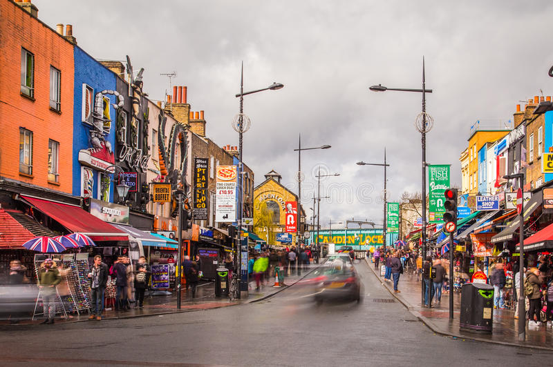 Camden Town i London arkivfoto