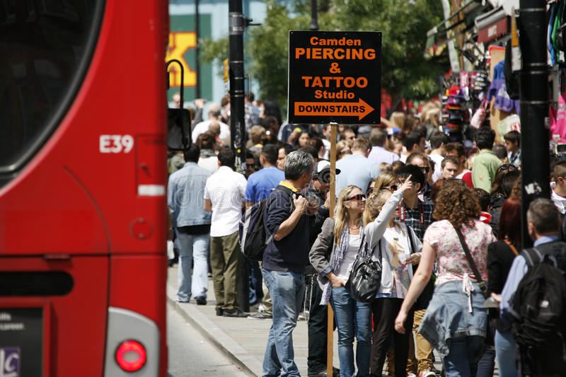 Download Camden Town, Market, London Editorial Stock Image - Image of tattoo, europe: 25495594