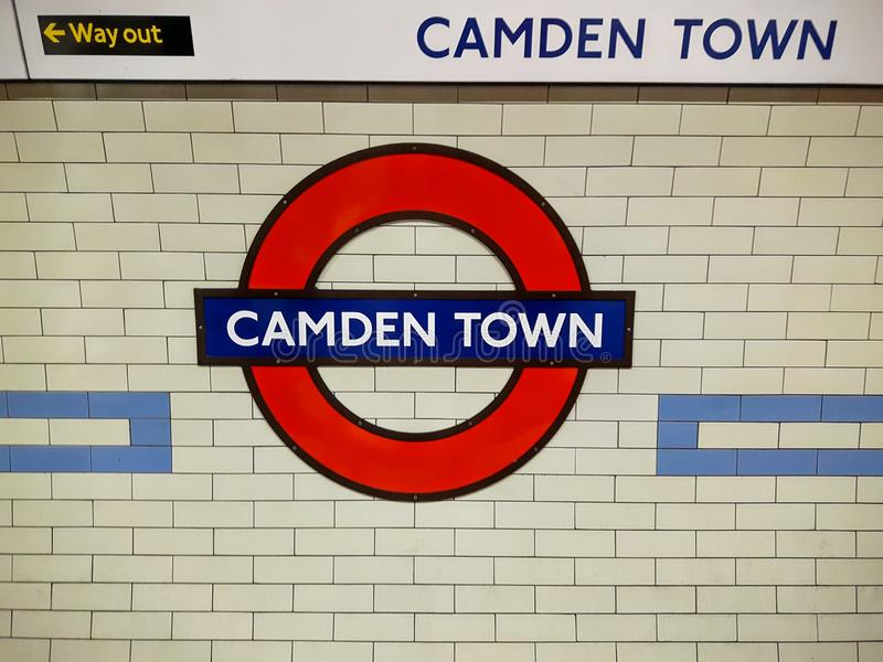 The camden town train station in London royalty free stock photography