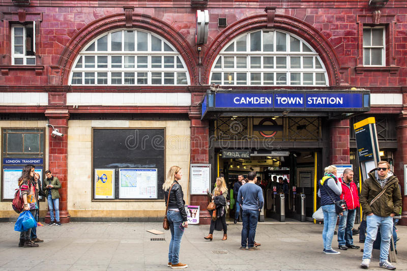 Camden Town Underground UK royaltyfri fotografi