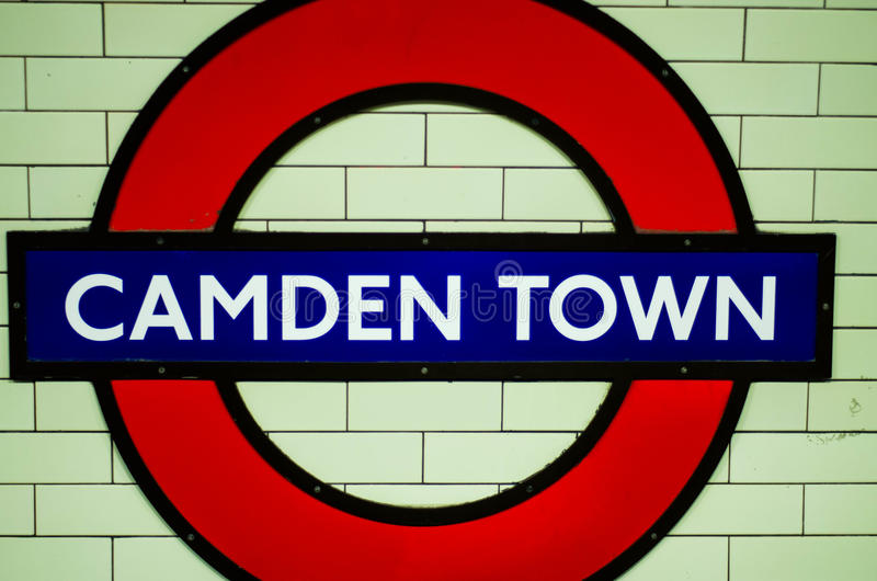Camden town. The undergrund sign for camden town in london stock photo