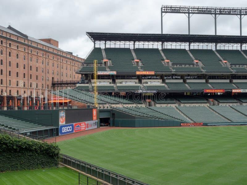 Camden Yards, estadio de los Baltimore Orioles, vacia en el fuera de temporada imagen de archivo libre de regalías