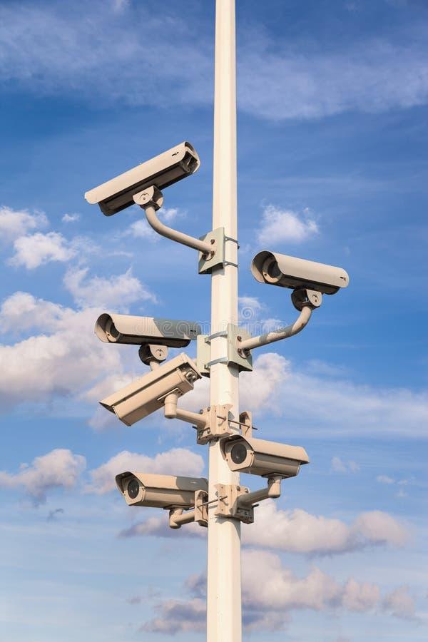 Came de degré de sécurité de télévision en circuit fermé photo libre de droits