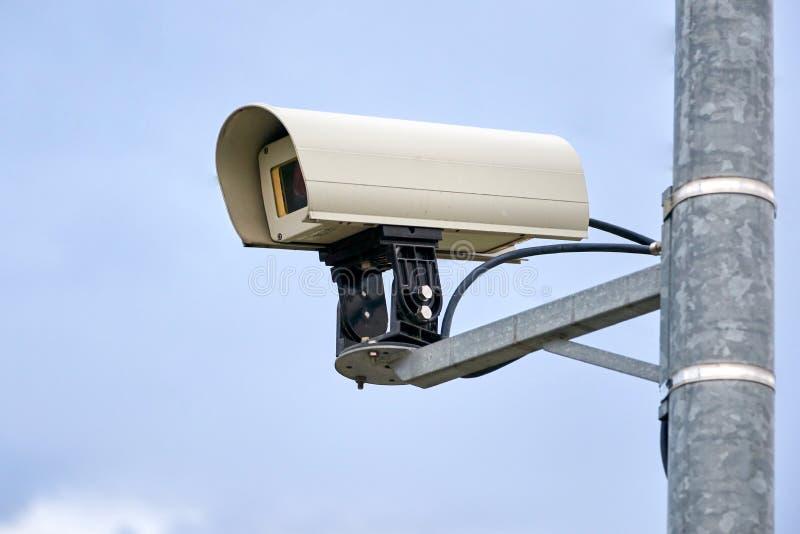 came de télévision en circuit fermé de surveillance l'en public photographie stock libre de droits