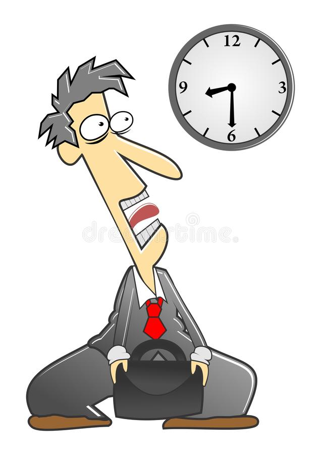 Download Came late stock illustration. Image of lazy, cartoon - 23212339
