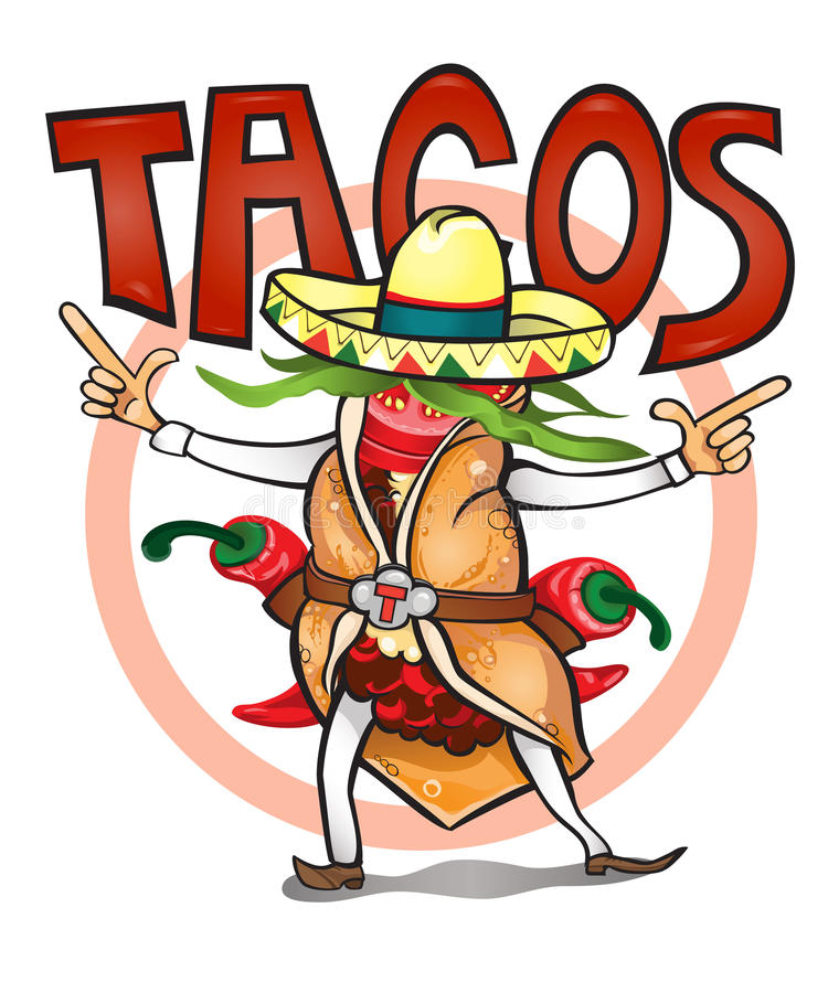Came to eat time tasty tacos royalty free stock image