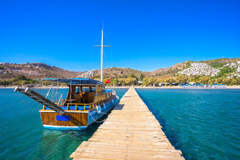Camel Beach, Bodrum, Turkey stock images