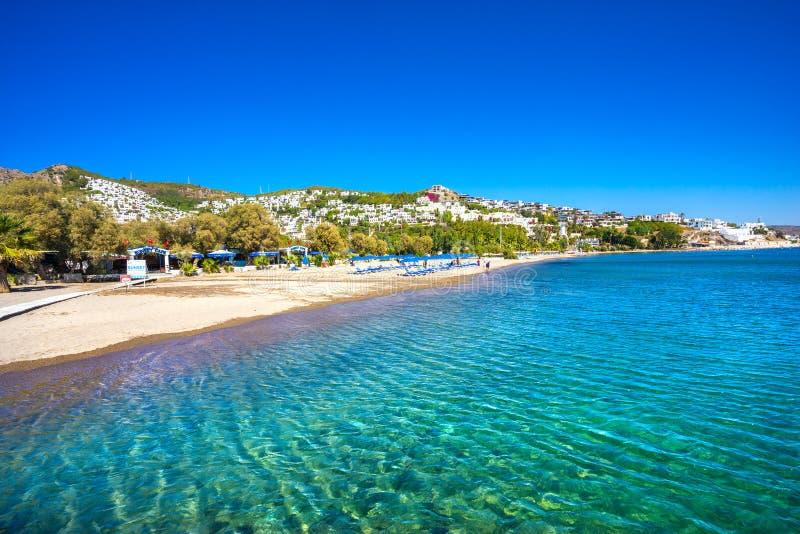 Camel Beach, Bodrum, Turkey. Camel Beach in Bitez on a sunny day, Bodrum, Turkey royalty free stock images