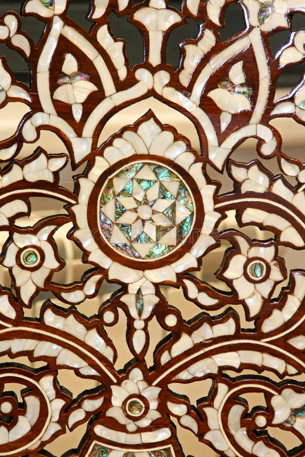 Camel bone pattern. Classic Morrocan patern carved in camel bone royalty free stock image