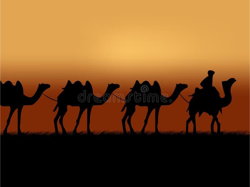 Camel caravan royalty free illustration