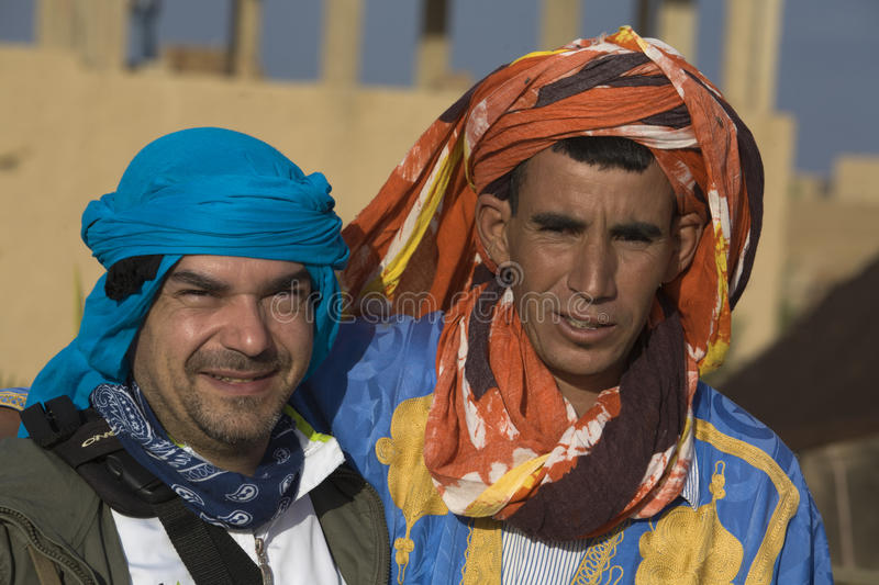 Camel driver and mate royalty free stock photography