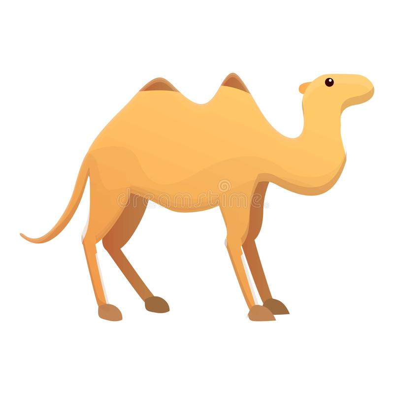 Camel icon, cartoon style royalty free illustration