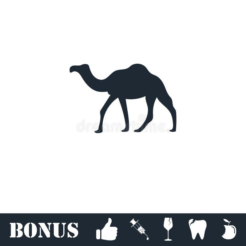 Camel icon flat vector illustration