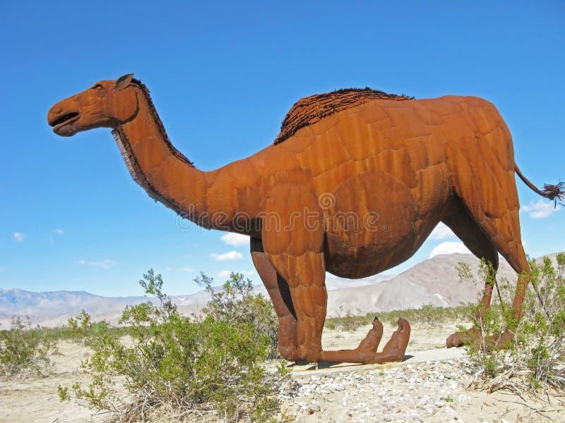 Download Camel On Knees - Metal Sculpture Stock Photo - Image: 31688474